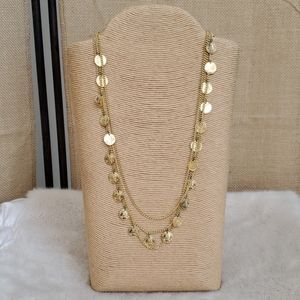 """Vintage, Tiered """"Coin"""" Necklace"""